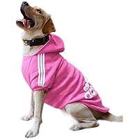 EASTLION - Sudadera con capucha para perro grande, color rosa 8XL