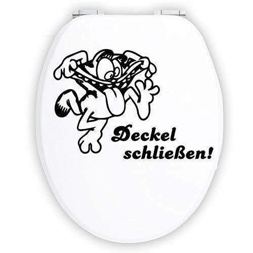 Hellweg Druckerei Wandtattoo in deiner Wunschfarbe WC Aufkleber Deckel schließen Bad Klodeckel Garfield 20x14 cm Wand Aufkleber Sticker (14 Wand-aufkleber)