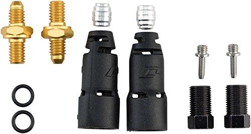 Jagwire PRO Quick-Fit Adapter-avid Elixir Kit di raccordi Unisex Adulto, Nero