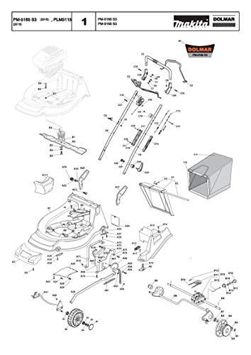 Preisvergleich Produktbild Achse Vorderrad,  Original Ersatzteil für Dolmar PM-5165 S3,  664302865