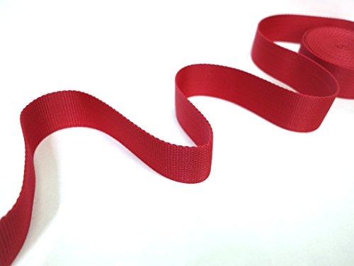 Cinta nailon correa para cascos, bolsos, mochilas, Moda Y Accesorios//Rojo de varias longitudes Color 2M, 5m, 10M, 20m, 30m, 40m, 50m, 100m. x H cm 4.0, 5m