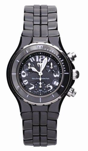 technomarine-ladies-chronograph-watch-tcb02c-with-black-dial-and-black-ceramic-bracelet