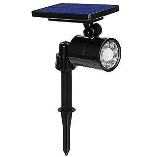 LED Solar Light, Waterproof Ultra-Bright 8 lEDs Motion Sensor Outdoor Light Solar Garden Lights with 4 Lighting Modes, 360°Adjust Angle, 800 Lumens Wireless Spotlight for Yard Street Driveway