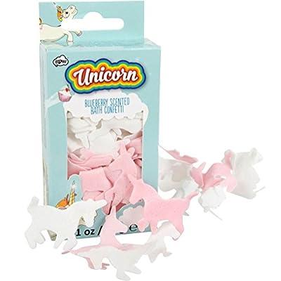 mysunshine NPW Myrtille confettis de bain dissolvant Licornes Rose et Blanc