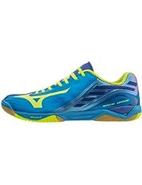 Mizuno Chaussures à onde Z bleu / jaune, options d' 7,5, bleu / jaune
