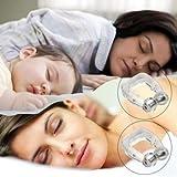 2PC magnétique Stop ronflement anti-ronflements en apnée Guard–Facile à nettoyer Utilisation sûre Silicon Snore Arrêtant Pince-nez
