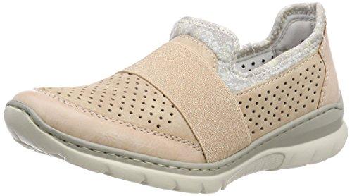 Rieker Damen L32V2 Slip on Sneaker, Pink (Rose/Altrosa/Silverflower), 42 EU