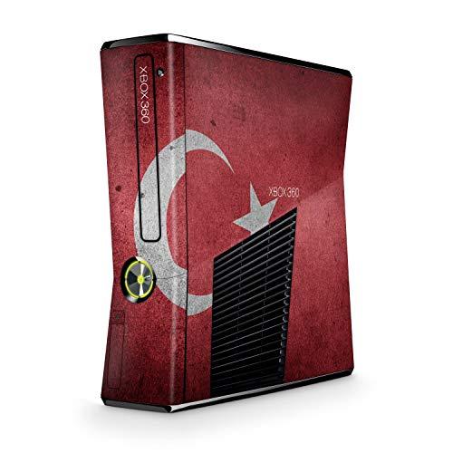 Design modding Aufkleber Vinyl Skin kompatibel mit Xbox 360 Slim Tuerkei Vintage (Die Outfits Türkei)