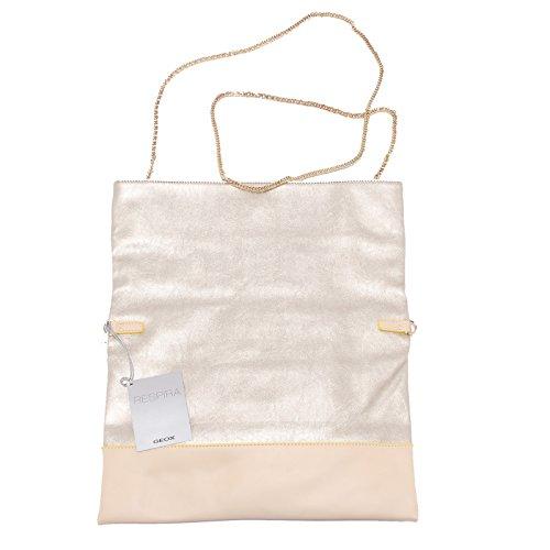 0383U brosa donna GEOX beige/argento tracolla handbag woman silver/beige beige/argento Venta Enorme Sorpresa En Línea Sat Orden De Venta En Venta Descuento 2018 a9WWNDC