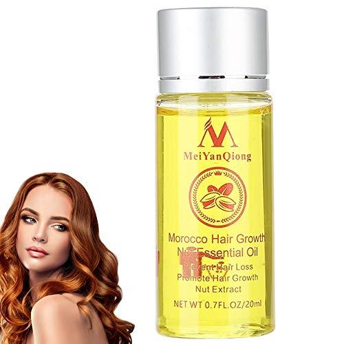 Essence naturelle, huile d'argan pur naturel biologique, idéal pour la guérison de la peau et des cheveux, 100% naturel et pur 20 ml, Professional Hair Serum, contrôle des cheveux secs