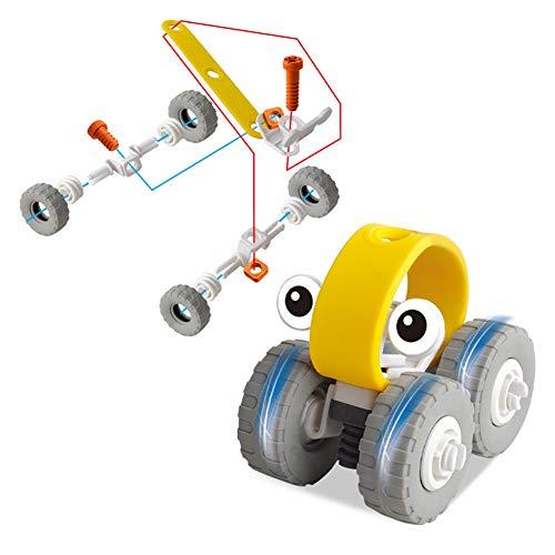 Auseinander nehmen Spielzeug - Fahrzeug-Baukasten mit Flugzeug-Motorrad und Auto - umfasst Kunststoff-Tools für Demontage Montage Spielzeug für Jungen und Mädchen - DIY Fix It Tool Set Montage Kit(Yellow)
