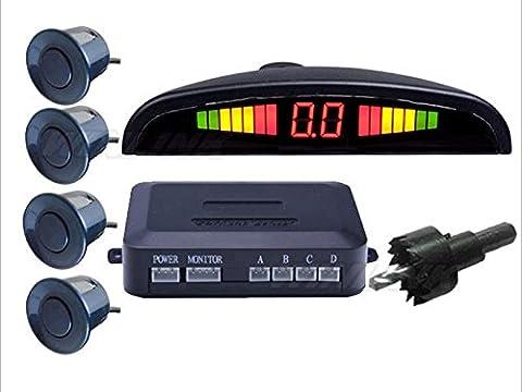 ETGtek(TM) 1pcs 4 capteurs voiture Led Parking Sensor Kit Display 12v pour les voitures Monitor System Radar de sauvegarde Assistance inversée