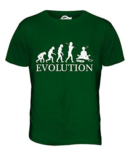 CandyMix Audiofilo Evoluzione Umana T-Shirt da Uomo Maglietta Verde bottiglia