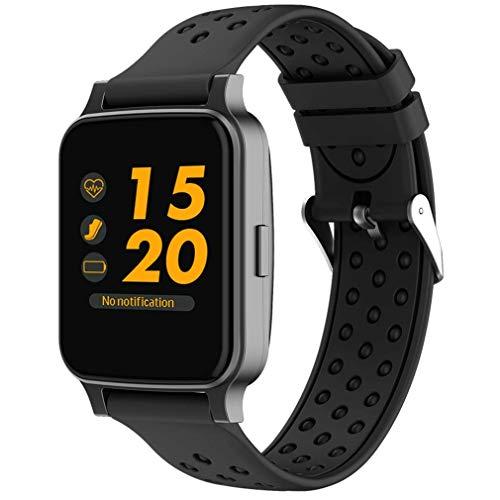 HOMECCLL 1,54 Zoll Smart Band Bluetooth Anruf Smart Waches Herzfrequenz Blutdruckmessgerät Smart Armbänder für Android IOS,Black