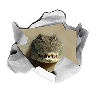 AOA 3D Krokodil Funny WC-Sitz Aufkleber Transfer Aufkleber Badezimmer