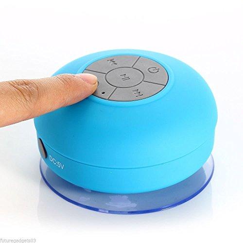 Mini Altavoz Inalámbrico Impermeable Cuarto de Baño Altavoces Bluetooth con Ventosa Aire...
