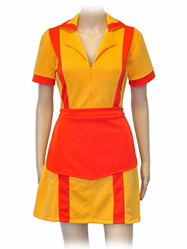 CoolChange 2 Broke Girls Kostüm Diner Uniform mit Schürze, Größe: XL (Party Girl Kostüm)