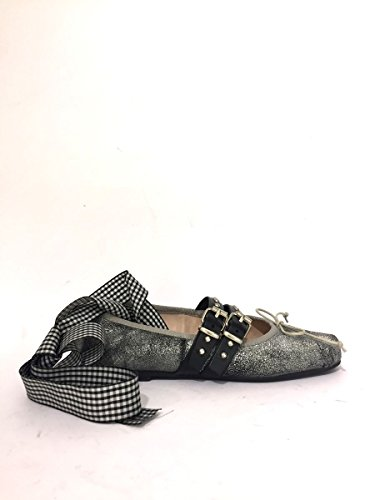 Ballerine DV-bibi-43 Divine Follie borchiate laccio caviglia argento , 38 MainApps