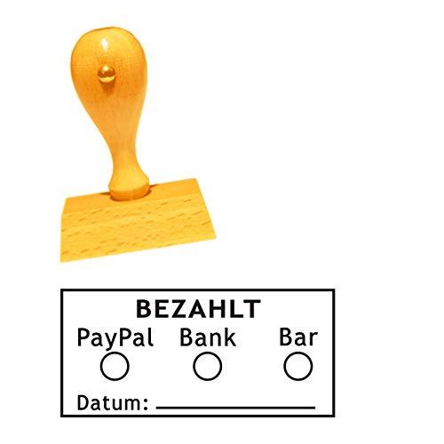 Timbro da ufficio numerato - per apporre il timbro dimensione ca. 50 x 25 mm - timbro per prenotazioni - per ufficio, amministrazione, libri, uffici fiscali.