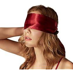 VicSec Máscara de Ojos Suave 2 Lados Disponibles Cinta de Satén - 1.5M