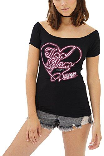ffe576718b1b8 trueprodigy Casual Mujer Marca Camiseta Estampado Ropa Retro Vintage Rock  Vestir Moda Cuello Redondo Manga Corta