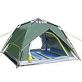 LQUIDE 4-6 Outdoor Camping Zelt Menschen, Elastische Automatische Zelt Geeignet Für Familie Camping, Reisen, Angeln, Outdoor 245X245x165cm