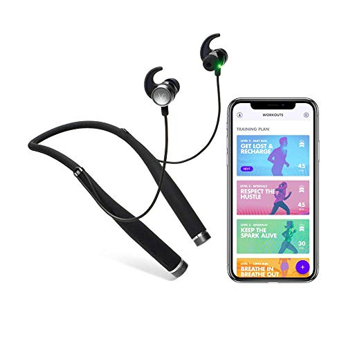 Vi Unisex AI Ultimate Fitness Audio Coach mit Advanced in-Ear-Herzfrequenz, Schwarz, One Size