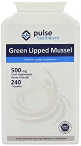 Pulse Healthcare 500mg Green Lipped Mussel Premium Quality GMP Supplement - Pack of 240 Capsules