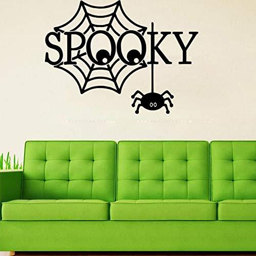 ziweipp Halloween Spooky Spider Wandaufkleber Halloween Party Dekorationen Für Fenster Und Hintergrund Von Home School Store Und Einkaufszentren 57 * 42 cm (Halloween-store In Australien)