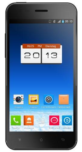Phicomm X100 Smartphone 11,9 cm (4,7 Zoll) Display, 1GB RAM, Qualcomm 1,2GHz Vierkern Prozessor, 16 GB interner Speicher, Android 4.1, schwarz