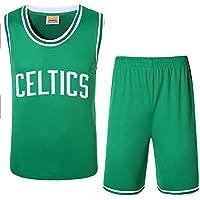 Camisa de Baloncesto Celtics, Conjunto de Chaleco y Pantalones Cortos de Dos Piezas para Juegos de Baloncesto, Swing Jersey Green (Xl-5xl)-Green-XXXXXL