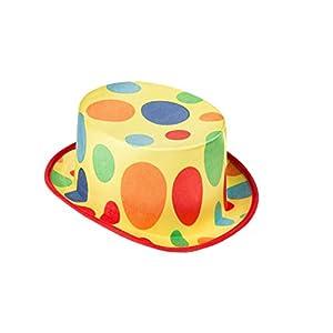 Viving Costumes Viving costumes204653Payaso Sombrero de Copa (59cm, Talla única)