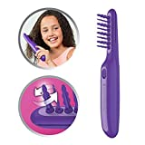 Remington Haarentwirrbürste Tangled2Smooth DT7432, elektrische Tangle Haarbürste, oszillierende Borsten für ein schnelles und einfaches Entwirren, für trockenes und feuchtes Haar geeignet, violett