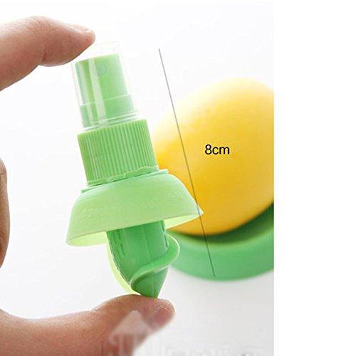 MMRM Hand Halten Zitrone Pressung Sprüh Entsafter Fruchtsaft Sprüher Vernebler – Grün - 2