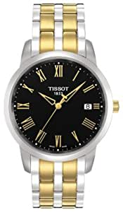 Tissot T-Classic DREAM Men's Two Tone Black Dial Watch T0334102205300