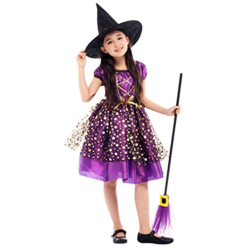 loween Kostüm, Kinder Cosplay verkleiden sich, süße Hexe Kinderkostüm ()
