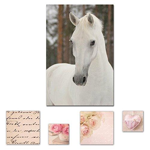 lumiere-eco-art-mural-sur-toile-bundle-elegant-cheval-blanc-princesse-80-x-1199-cm-pour-decoration-i