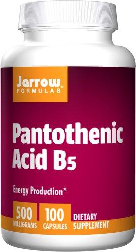 Jarrow Formulas Phanthotensäure ( Vitamin B5 Pantothenic Acid ) 500mg x100caps – Pantothenische Säure