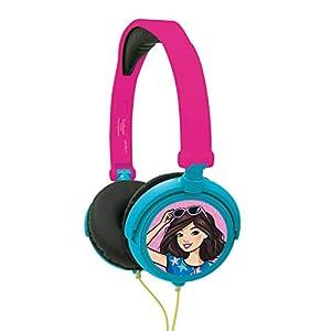 Lexibook Barbie, Auriculares estéreo, potencia apta para niños, plegable y ajustable, rosa, HP010BB