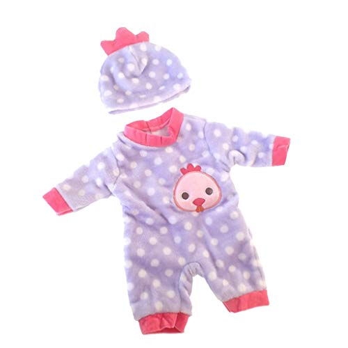Fenteer Niedliche Babypuppe Kleidung, Overall+Hut / Top+Hose+Hut / Umhang+Kleid Outfit Set Für 50 cm Baby Puppen - # 2