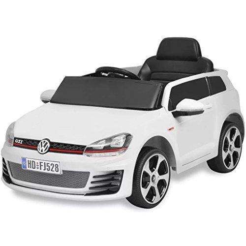 RC Auto kaufen Kinderauto Bild: SENLUOWX Kinderauto Elektroauto VW Golf GTI 7 Weiß 12 V Kinderfahrzeug Kinderauto mit Fernbedienung*