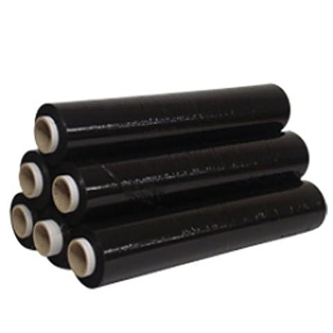 60grands rouleaux de Extra Fort de Palette stretch noir–Dimensions: 500mm x 200m–Standard de sécurité CORE 25Microns Film en polyéthylène opaque