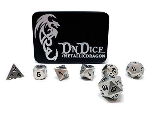 Metallic Dragon - Solid Metal Poly Dice Set By DnDice -...