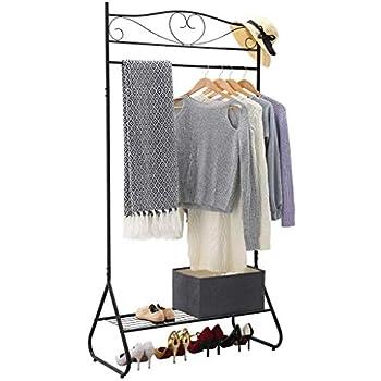 comment trouver haut de gamme pas cher magasin discount LANGRIA Portant Vêtements Robuste avec 1 Barre Suspendue et ...