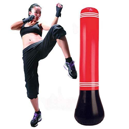 Schwerkrafttrainer Aufblasbare Boxing MMA Punching Target Bag Freistehender Becher