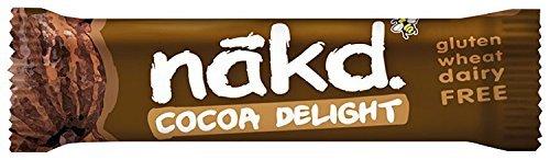 Nakd Cocoa Delight Gluten Free Bar 35 g (Pack of 24)