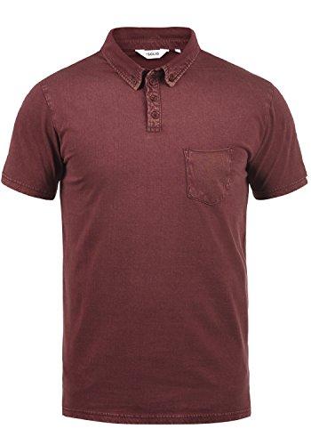 Solid Herren Polo-shirt (!Solid Pat Herren Poloshirt Polohemd T-Shirt Shirt Mit Polokragen Aus 100% Baumwolle, Größe:L, Farbe:Wine Red (0985))