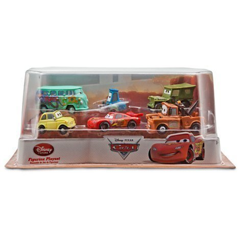 Image of Disney Pixar Cars 2 Pit Crew 6 Pack of Luigi, Guido, Sarge, Fillmore, Lightning McQueen and Mater (PVC, Plastic)