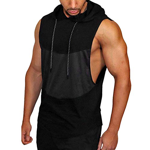 ZODOF Sports Stitching Chaleco sin Mangas Gyms Hombre
