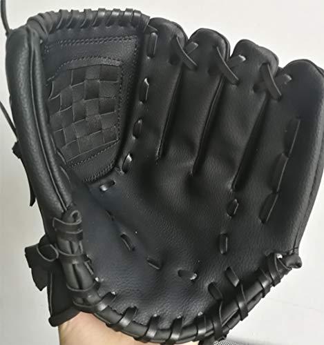 uh Sport Ball Handschuh-Schwarz, Blau & Khaki Outdoors Batting Handschuhe Für Kinder Und Erwachsene Catcher's Mitt,Black ()